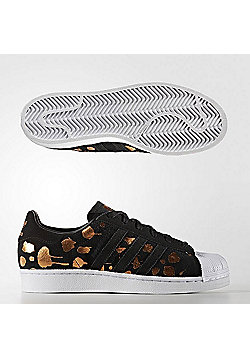 adidas Originals Womens Superstar Foil Print Trainers - Black