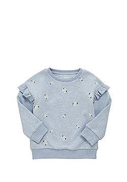F&F Daisy Print Sweatshirt - Blue