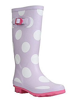F&F Polka Dot Wellies - Lilac