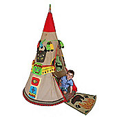 KiddyPlay Red Indian Teepee Play Tent Playset