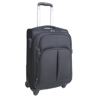 Tesco Finest 4-Wheel Suitcase, Black Small