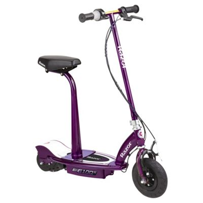 Razor E100S Seated Electric Scooter, Purple