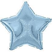 Pastel Blue Dazzler Star Balloon - 19 inch Foil