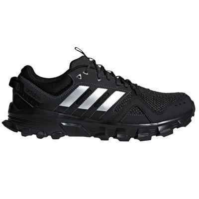 adidas Rockadia Trail Mens Running Trainer Shoe Black/Silver - UK 8.5