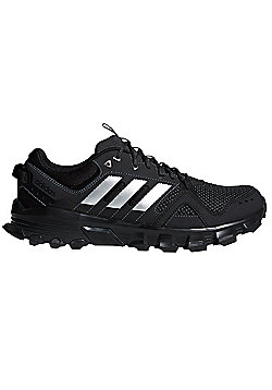 adidas Rockadia Trail Mens Running Trainer Shoe Black/Silver - Black