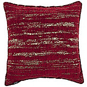 McAlister Red Textured Chenille Cushion Cover - 43x43cm