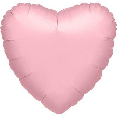 Metallic Pearl Pastel Pink Heart Balloon - 32 inch Foil