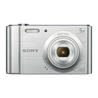 Sony Cyber-shot W800 (20.1MP) Digital Camera 5x Optical Zoom 2.5 inch LCD Screen (Silver)
