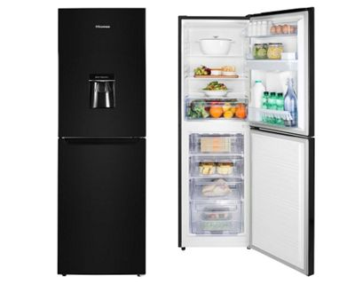 Hisense RB320D4WB1 Upright Freestanding Fridge Freezer With Water Dispenser - Black