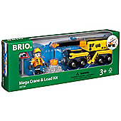 Brio 33734 Megacrane & Load Kit For Wooden Train Set