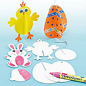 3D Easter Decorations (Pack of 12)