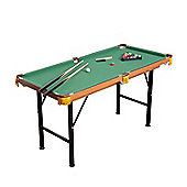 Homcom 4FT 6IN Green Billiards Pool Table With Balls And Other Accessories
