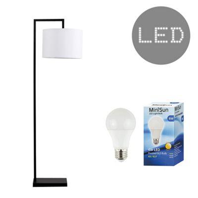Linus 145cm LED Floor Lamp - White