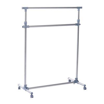 Homcom Clothes Hanger Garment Rail Hanging Display Rack w/ Wheels