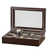 Dark Grain Finish 10 Watch Box