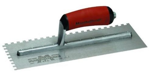 Marshalltown 702SD Square Notched Trowel - Durasoft Handle