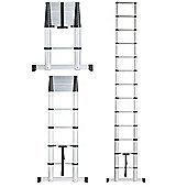 VonHaus 3.8m Extendable Aluminium Telescopic Ladder