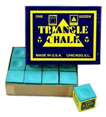 Triangle Billiard Chalk (12 Pieces) - Chalk Colour : Green