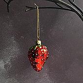 Glass Strawberry Decoration
