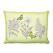 Dreams n Drapes Aviana Lemon Cushion Cover - 28x38cm