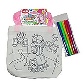 Animal Antics Colour Your own Tote Bag with Pens Princess