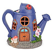Christow Solar Powered Watering Can Fairy House - Purple