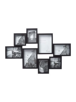 Buy Linea Black 8 Multi Aperture Photo Frame from our All Frames ...