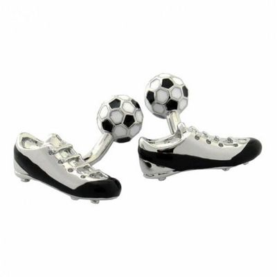 Maze Football Boot Cufflinks