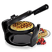 Duronic WM11 /BK 1100W Black Rotating Delicious Fresh Evenly Cooked Belgian Waffle Maker / Waffle Iron