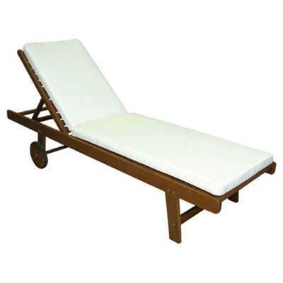 buy windsor 190cm wooden sun lounger with cushion from our. Black Bedroom Furniture Sets. Home Design Ideas