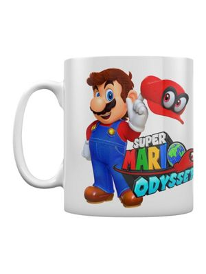 Super Mario Odyssey Mario With Cappy Boxed 10oz Ceramic Mug, White