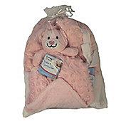 Baby Gift Set Mink Bubble Reversible Blanket & Doudou Comforter - Pink
