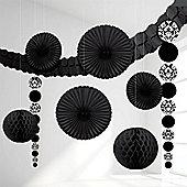 Black Damask Decorating Kit