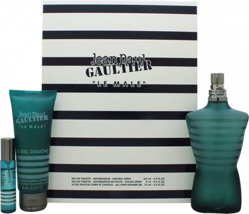 Jean Paul Gaultier Le Male Gift Set 125ml EDT + 75ml All-Over Shower Gel + 10ml EDT Mini For Men