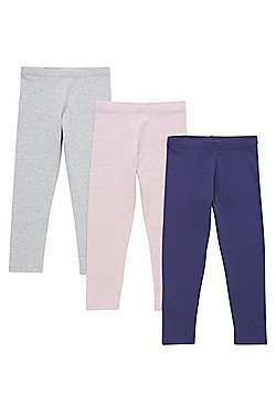 F&F 3 Pack of Leggings with As New Technology - Blue