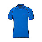 Mens Rash UV Protection Vest Swimming Diving Surfing Top - Blue