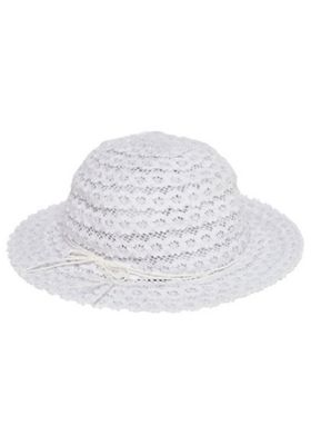 F&F Foldable Straw Sun Hat White 7-10 years
