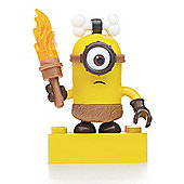 Mega Bloks Despicable Me Minions Series 3 Figure - Stuart (Caveman with Torch)