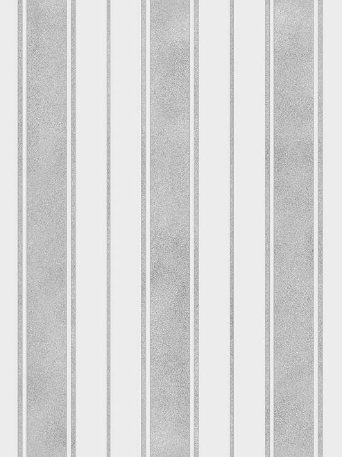 Wentworth Stripe Grey & Silver Wallpaper