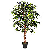 Homescapes 4 Feet Green Ficus Tree Artificial Plant