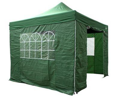All Seasons Gazebos, Heavy Duty, Fully Waterproof, 3m x 3m Standard Pop up Gazebo Package in Green