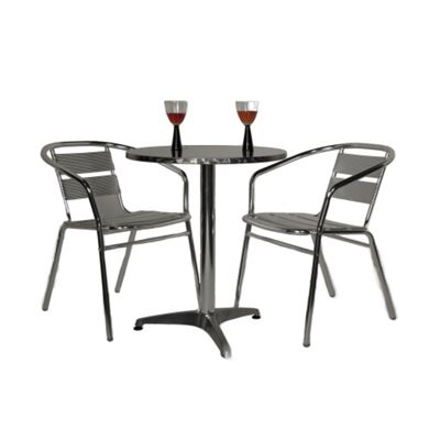 Buy Brackenstyle Aluminium Bistro Set Seats 2 From Our