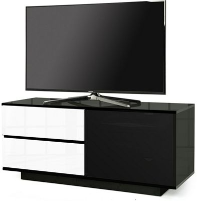 MDA Gallus Ultra Gloss Black and White TV Cabinet For 55 inch TV s