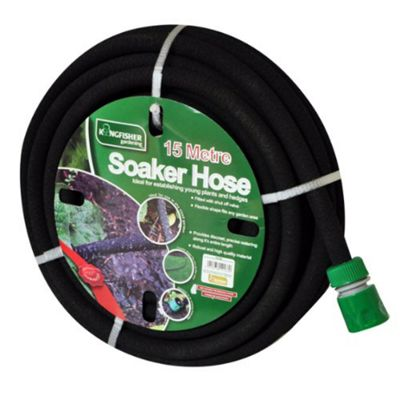 Kingfisher Black Soaker Hose 15M
