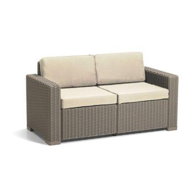 allibert california 2 seater sofa cappuccino