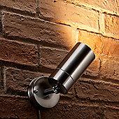 Auraglow Stainless Steel Outdoor Multi Directional External GU10 Wall Light Spotlight - Warm White (3000K)