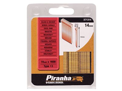 Black and Decker X71314 Nails 14mm Pack 1600