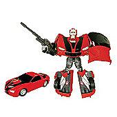 Car Bot V2 Figure - Red Ford Camaro