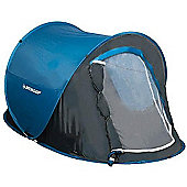 Dunlop Pop Up 2 MAN Waterproof Tent - Blue & Grey