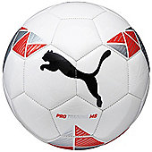 Puma Pro Training MS Football Soccer Ball White/ Red/ Black - Size 3